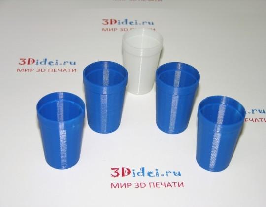 Граненый стакан из пластика